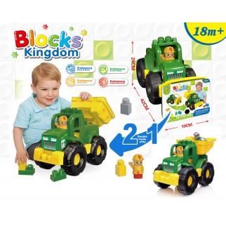 Žaislinė mašina su kaladėlėm