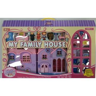 Lėlių namas su priedais