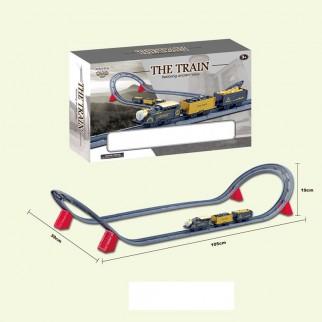 Žaislinis traukinys su trasa