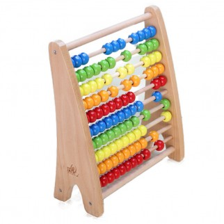 Medinė spalvota skaičiuoklė