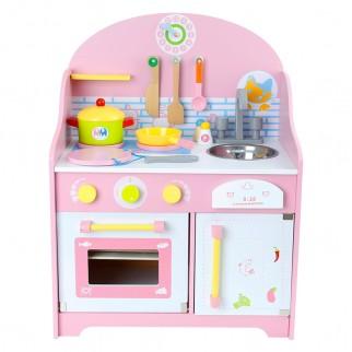 Medinė virtuvėlė su priedais