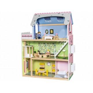 Medinis lėlių namas su...